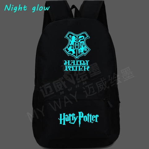 Harry Potter Hogwarts Anime Backpack women travel bag Luminous Printing School Bags men shoulder bag Teenager Mochila Backpacks Shop1783048 Store 1
