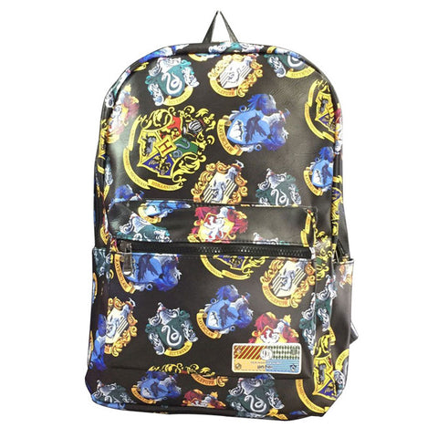 Harry Potter New Backpacks Gift Students Boy Girl School Bag with Computer Interlayer Full PU Leather Anime Backpack mochila Happy Goods Store 1