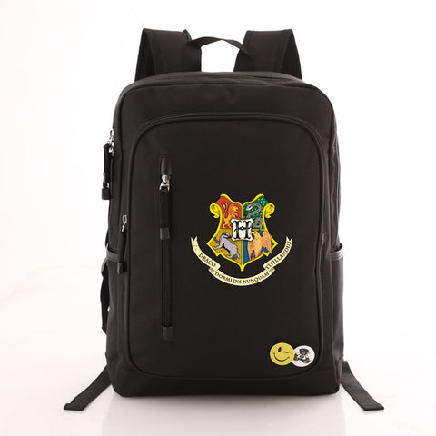 Harry Potter Printing School Bags Book Backpacks Children Bag Canvas Students Rucksack Travel Laptop Bag Men Women Met You Store 1