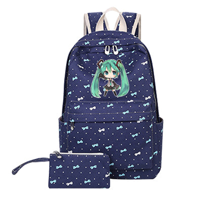 Hatsune Miku Backpack Anime Vocaloid Canvas Laptop Student School Bag Free Shipping Japan Anime Children Shoulder Rucksack suuman Store 1
