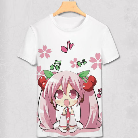 Hatsune Miku T Shirt New Anime Japanese Famous Animation Novelty Summer Men's T-shirt Cosplay Costume Clothing For Men Women Abby Happy Store 1