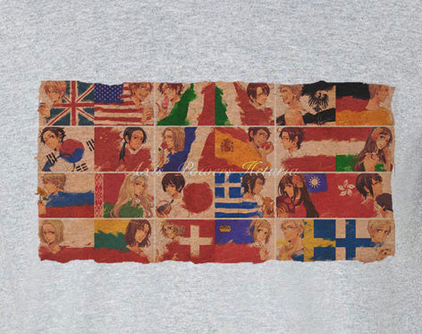 Axis Powers Hetalia Flag representation country Tee T-Shirt Shirt - Animetee - 1