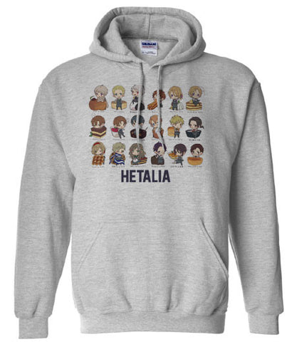 Axis powers Hetalia Chibi countries and food Hoodie Hooded Sweatshirt - Animetee - 1