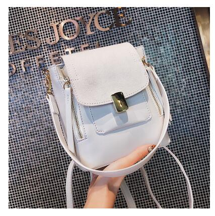 9cb716be22 High Q 2018 new pu leather luxury brand solid frosted girls women bag student  backpack Shop1168061