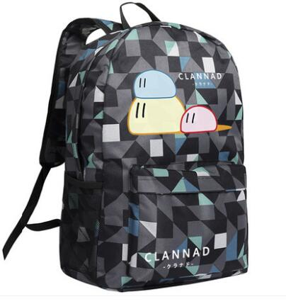 High Q JAPAN Anime clannad around Backpacks high school student unisex oxford plaid daily cute large backpack Shop1168061 Store 1