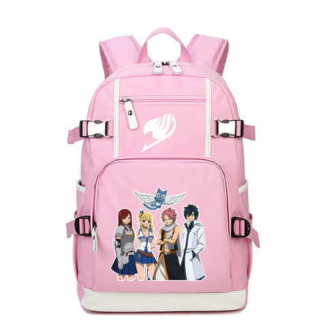 High Quality Anime Fairy Tail Natsu Lucy Heartfilia Cos School Backpack Japanese Cartoon Canvas Bags Mochila Feminina Rucksack The Pocket Store 1