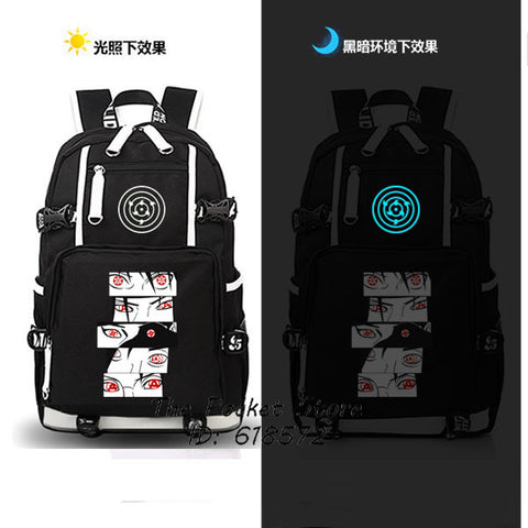 High Quality Japanese Anime Naruto Sharingan Backpack Uzumaki Naruto Cosplay Shoulder Bags Laptop Backpack Unisex Travel Bags The Pocket Store 1