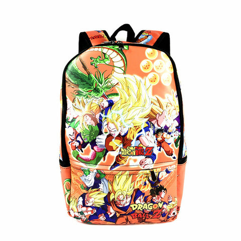 High Quality PU Full Leather Dragon Ball Z Backpack Anime Cartoon School Bag For Young Faddish Store 1