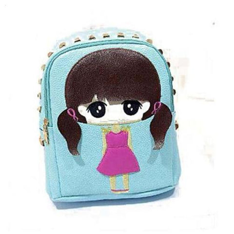 High Quality PU Leather Children Girls Mini Bag Cute Printing Anime Rivet Zipper 2016 Waterproof Dora Small Backpacks Mochila FanFine Bag Store 2