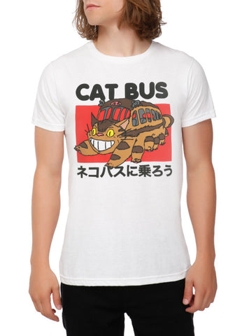 Hillbilly Studio Ghibli Neighbour Totoro Ride The Cat Bus Japanese Anime Unisex T-Shirt White Casual T shirts summer 2017 Tops Hillbilly Official Store 1