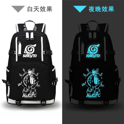 Hot Anime Naruto One Piece Printing Backpack Luffy Zoro Chopper Cosplay School Bags For Girls Men Travel Bags Laptop Backpack The Pocket Store 1