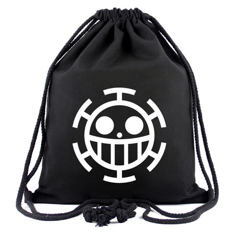 Hot Style One Piece Drawstring Bags Canvas Backpack for Teenager Men Women Organizer Pouch Japanese Anime Cartoon Drawstring Bag Happy Goods Store 1