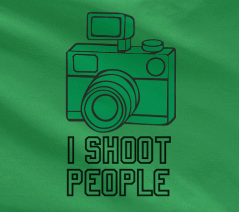 Pop Culture Trendy Funny I Shoot people Camera photographer photography canon nikon mirror Tshirt Tee T-Shirt Ladies Youth Adult Unisex - Animetee - 2
