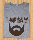 Pop Culture Trendy I love my beard fear the beard Tshirt Tee T-Shirt Ladies Youth Adult Unisex - Animetee - 2