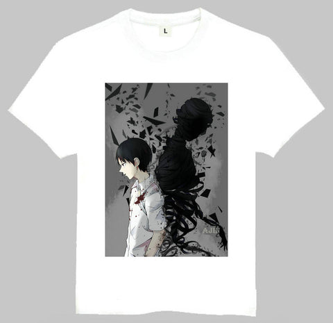Japan Anime Ajin T-Shirt White Short Sleeve Teenages Ajin Kei Nagai Top Tees Shirt For Adult Zhejiang C Y F Store 1