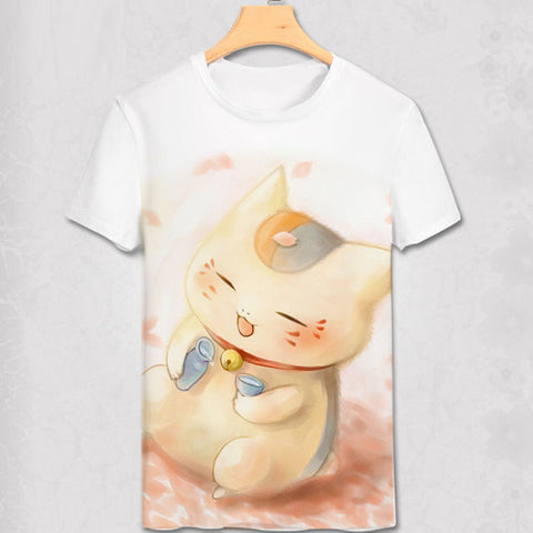 Japan Anime Cat teacher Natsume Yuujinchou natsume T Shirt Boys/men Cosplay Custom Cartoon T shirt Women/girls Animation gift Abby Happy Store 1