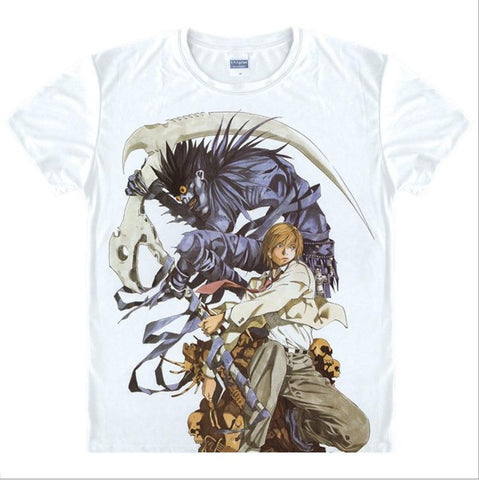 Japan Anime Death Note T Shirt Boys/men Cosplay Yamaguchi Kappei T-Shirt short-sleeve Cartoon Printed Ghost T-shirt Women/girls Abby Happy Store 1