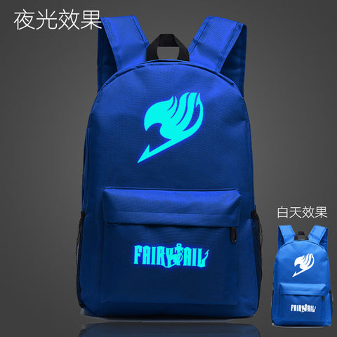 Japan Anime Fairy Tale School Bag noctilucous Luminous backpack student bag Notebook backpack Daily backpack Glow in the Dark Met You Store 1