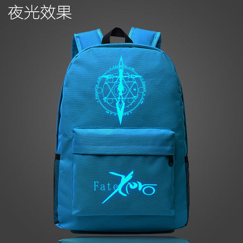 Japan Anime Fate Zero Saber School Bag noctilucous Luminous backpack student bag Notebook Daily Glow in the Dark Mochila Gift Met You Store 1