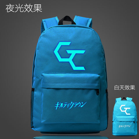 Japan Anime Guilty Crown School Bag noctilucous Luminous backpack student bag Notebook Daily backpack Glow in the Dark Mochila Met You Store 1