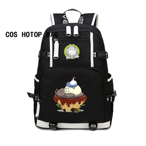 Japan Anime My Neighbor Totoro Backpack For Boy/Girl School Bags student Laptop bag men women backpack 24 style COSPLAY81888 Store 1