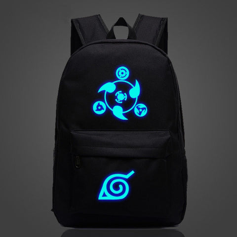 Japan Anime Naruto Luminous Backpack Uzumaki Printing Bagpack Laptop Travel Book School Bag Nylon Rucksack For Collage Students ToAlice Store 1