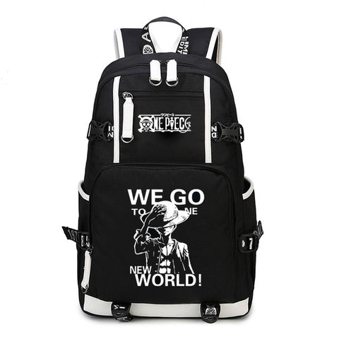 Japan Anime One Piece Luffy Team Glow In Dark Light Women Men Backpack Schoolbag Bag Boys Girls Student book bag COS BAG MADE Store 1