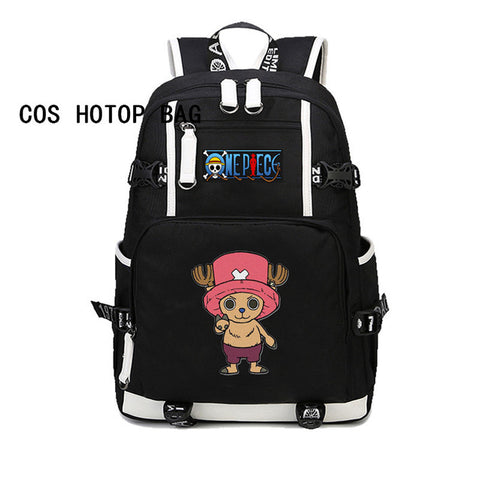 Japan Anime One Piece backapck laptop backpack Canvas Student school backpack Teenagers Printing Rucksack 20 style COSPLAY81888 Store 1