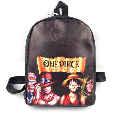 Japan Anime One Piece backpack For Teenagers Luffy Backpacks School Bag Student Shoulder Book Bag pu Rucksack COS BAG MADE Store 1