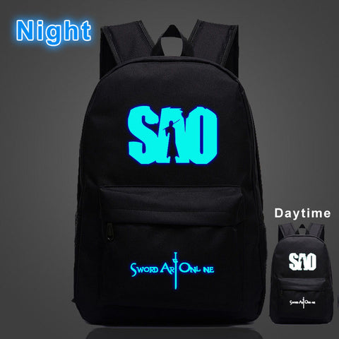 Japan Anime Sword Art Online Luminous Backpack Bookbag Cool School Bag Boys&Girls Cartoon Travel Bag YUANMAN Store 1