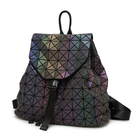 Japan BAO 2018 Luminous Women Backpacks Girl Daily Backpack Female Geometry Travel Folding backpack Bags School Bag Drawstring Best Reputation 1