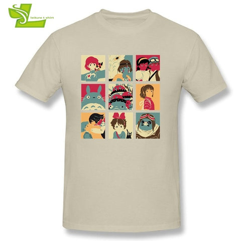 Japan Pop Anime T Shirt Man Short Sleeve O Neck Novelty Tees Male Oversize Clothes Casual Teenboys Tee Shirt My Neighbor Totoro LEITURE Store 1