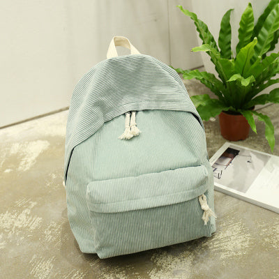 Japan and South Korea simple solid color shoulder bag Tougong College wind leisure small fresh students backpack Hangzhou Manxia Backpack Store 1