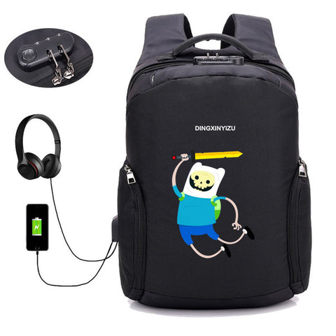 Japan anime Adventure Time Backpack USB Charge Anti Theft Backpack Men Women computer bag School book Bags Travel Backpack COSPLAY81888 Store 1