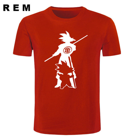 Japan anime Dragon Ball Z T Shirt Super Saiyan fluorescent men Son Goku Tees Tops Men Clothes Plus size T-shirt REM Store 1