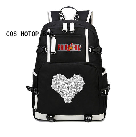 Japan anime Fairy Tail Backpack Natsu Lucy Cosplay Preppy School Bag Canvas Travel Backpacks men women Rucksack 11 style COSPLAY81888 Store 1