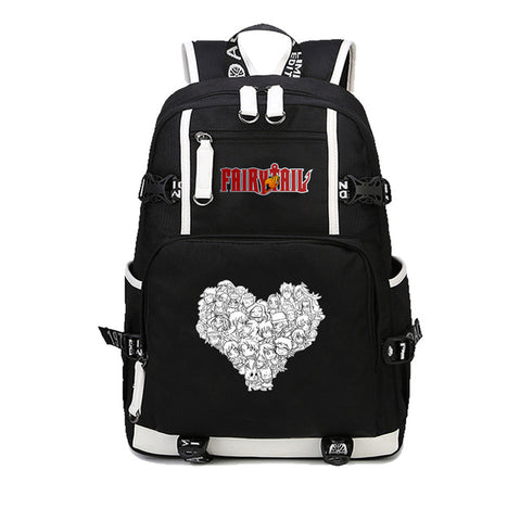 Japan anime Fairy Tail Printing Women Backpack student School Bags for Teenagers Boys Girls Cartoon Travel Canvas Bag Mochila Ru COS BAG MADE Store 1