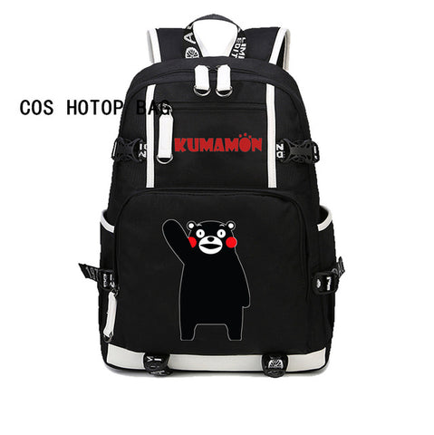 Japan anime Kumamon Backpack School Bag men women canvas Laptop Backpack student book bag Travel Double-Shoulder Bag 8 style COSPLAY81888 Store 1