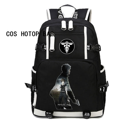 Japan anime PSYCHO PASS Backpack For boys girl Children student book Bag School Backpack Teenagers Travel Rucksack Bag 8 style COSPLAY81888 Store 1