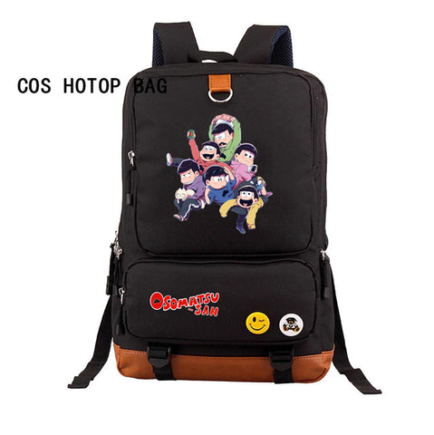 Japan anime osomatsu-san Backpack osomatsu-kun Backpack Student School Bags Canvas Printing bag Teenagers Laptop Bag 10 style COSPLAY81888 Store 1