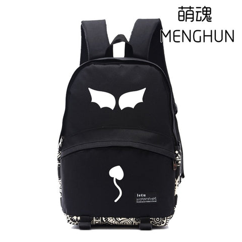 Japanese Anime Ao no kanata no four rhythm backpacks anime fans lovely girl backpack black nylon bags NB180 MENGHUN Anime Store 1
