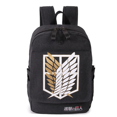 Japanese Anime Attack on Titan Backpack for Teenagers Boys Canvas Cartoon Schoolbag for Teenage Girls Campus Bookbag Mochila Dearest Yomi Bag Store 1