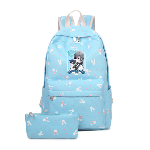 Japanese Anime Black Butler Backpack Children School Bags Cartoon Teenager Backpacks Black Butler Bag Sebastian Ciel Student Bag suuman Store 1