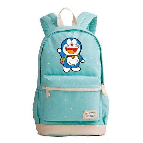 Japanese Anime Doraemon Printing Backpack Summer Style Women Backpack Canvas School Bags for Teenage Girls Laptop Backpack The Pocket Store 1
