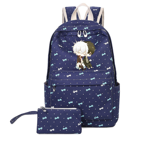 Japanese Anime Gintama Backpack for Teenage Girls boys Cartoon Gin Canvas Cartoon Shoulder Bag Schoolbag Elizabeth travel suuman Store 1