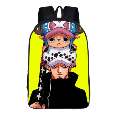 Japanese Anime ONEPIECE 2PC Set with Pencil Case Student Backpacks DIY Printing Cool School Student Bags For Boys Kids Book Bag runningtiger Schoolbag Store 1