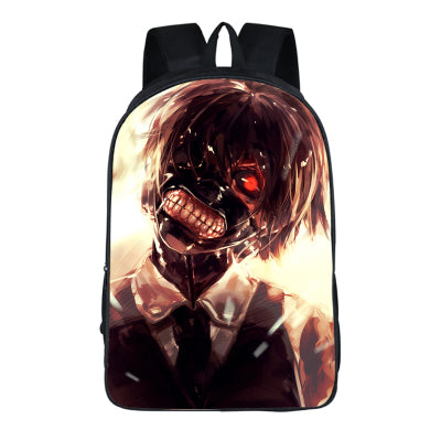 Japanese Anime Tokyo Ghoul 2PC Set with Pencil Case Student Backpacks DIY Printing Cool School Bags For Boys Kids Book Men Bag runningtiger Schoolbag Store 1