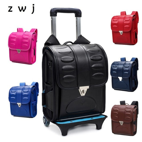 Japanese Children School Backpack For Girl And Boys Kid School Bags Students Bookbags Trolley Backpack Zhengjiang zwj bag Store 1