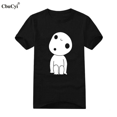 Japanese Harajuku Mens Clothing Studio Ghibli Kodama T-Shirt Funny Anime Printing T Shirt Cotton Short Sleeve tshirt Jane Store 1