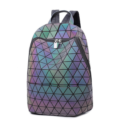 Japanese Women backpack bao bag Geometric cool backpack Luminous rhombus backpack JIN QIAO ER Backpack&Handbags Store 1